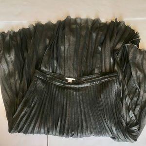Halogen accordion skirt sz large grey mid length